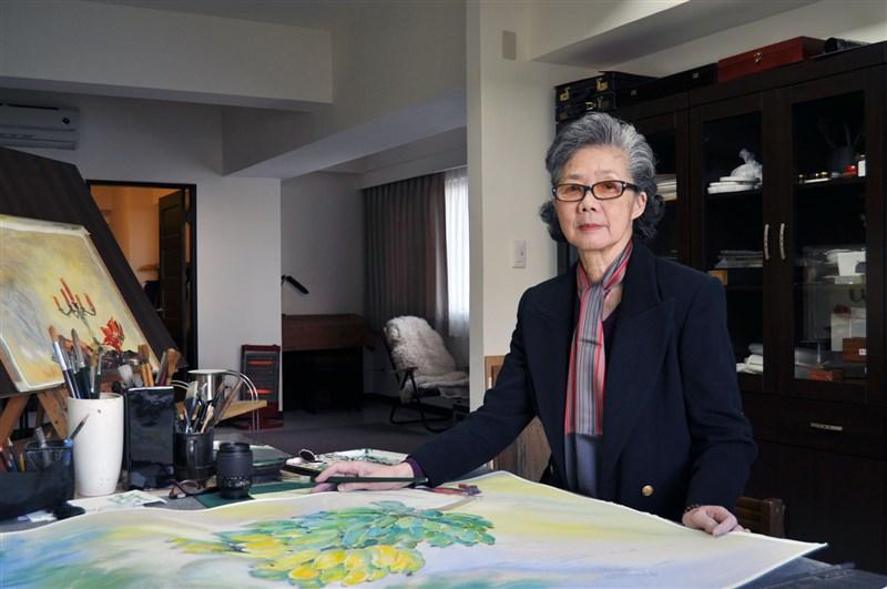 銘傳大學表示,知名水彩畫家梁丹丰6日晚辭世,她在銘傳任教52年,培育出許多優秀藝術家。(圖取自facebook.com/MCU1957)