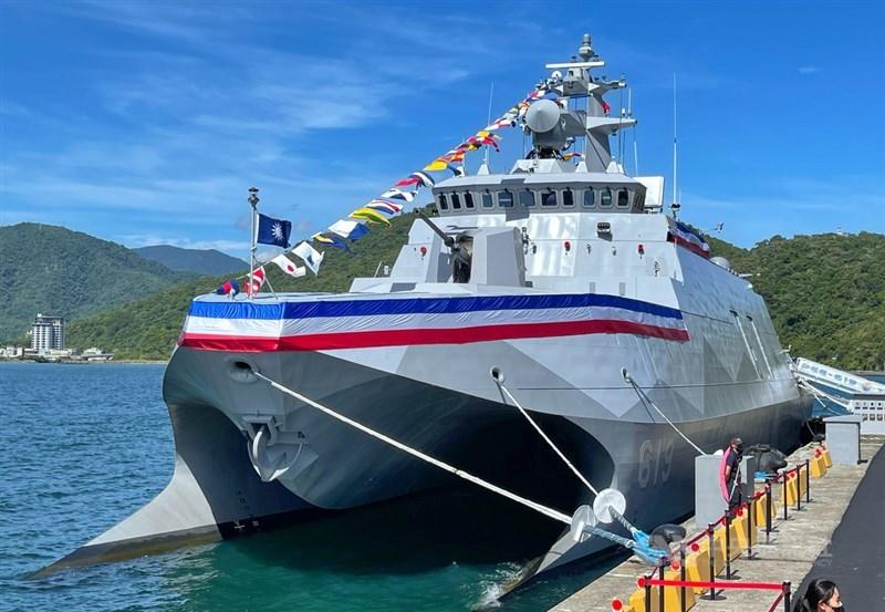 海軍塔江軍艦9日成軍,塔江軍艦具高機動性及快速打擊能力等特點,艦上多項系統及武器配備均為最新研發裝備。中央社記者王飛華攝 110年9月9日