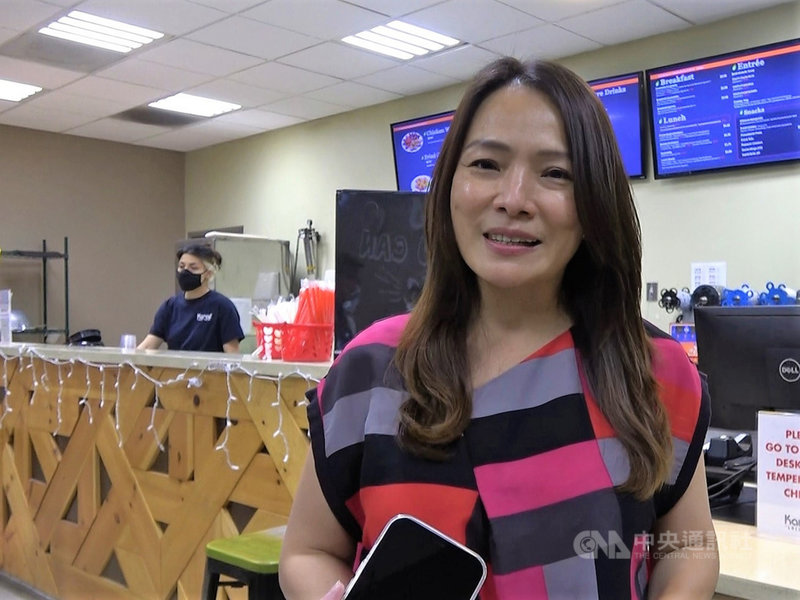 樂立杯及Karat營運長王姿容(Joanne Wang)表示,公司產品線的延伸在於不斷追求創新。中央社記者林宏翰洛杉磯攝  110年9月11日