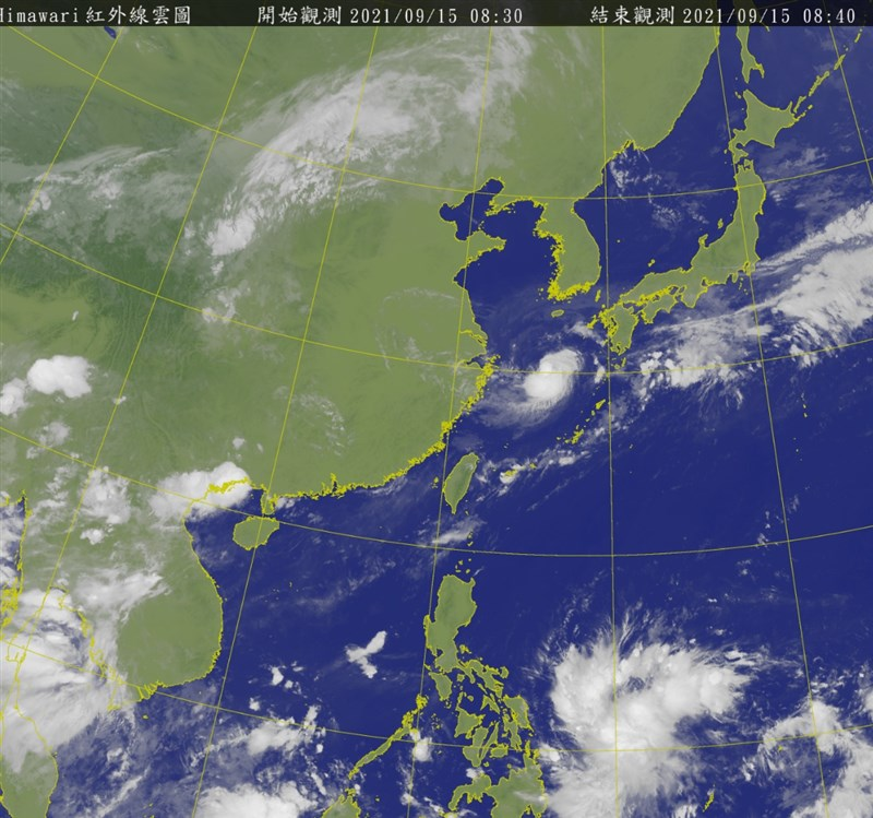 氣象專家吳德榮15日表示,菲律賓東方海面有熱帶雲簇形成,各國模擬預估19、20日將移入南海發展成熱帶低壓或颱風。(圖取自中央氣象局網頁cwb.gov.tw)