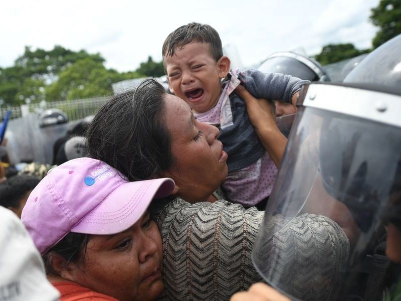 中美洲移民大隊前進美國