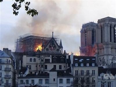 巴黎聖母院大火