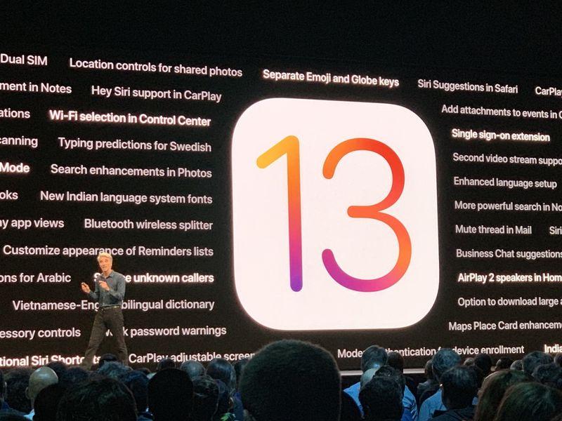 蘋果iOS 13登場