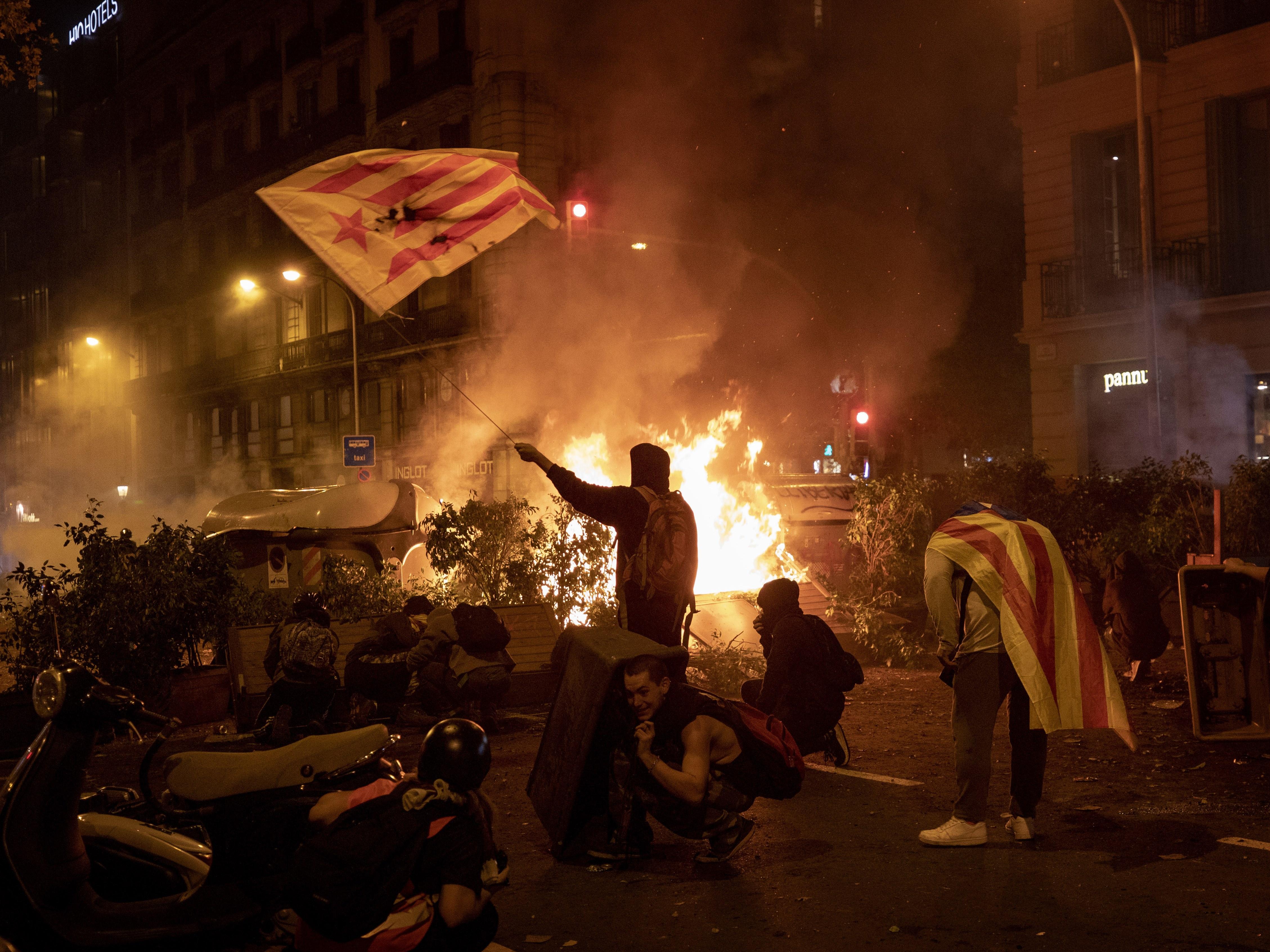 加泰隆尼亞挺獨示威延燒