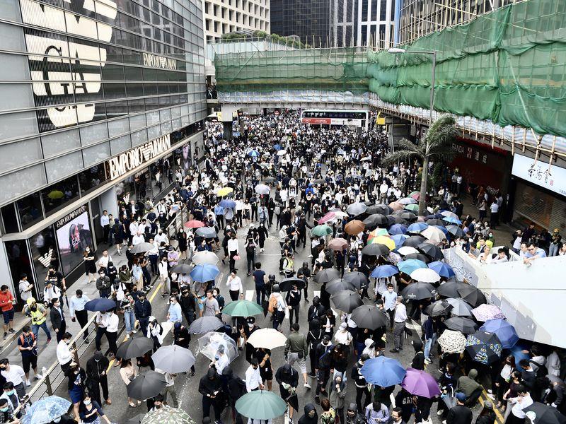 香港反送中三罷行動