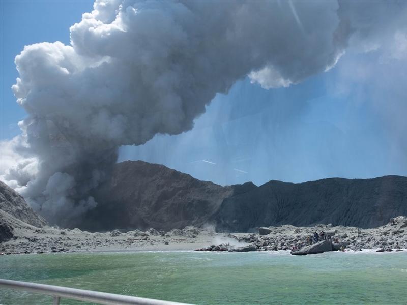 紐西蘭火山爆發死傷慘