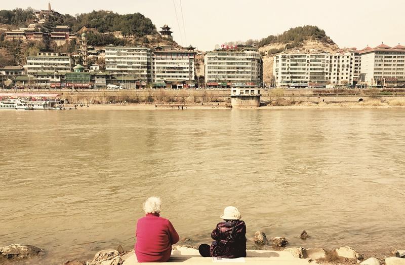 黃河邊上。