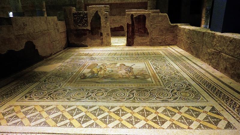 古羅馬別墅中的浴池遺跡