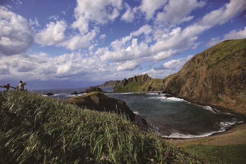 禮文島上的澄海岬,視野開闊、風景壯麗。
