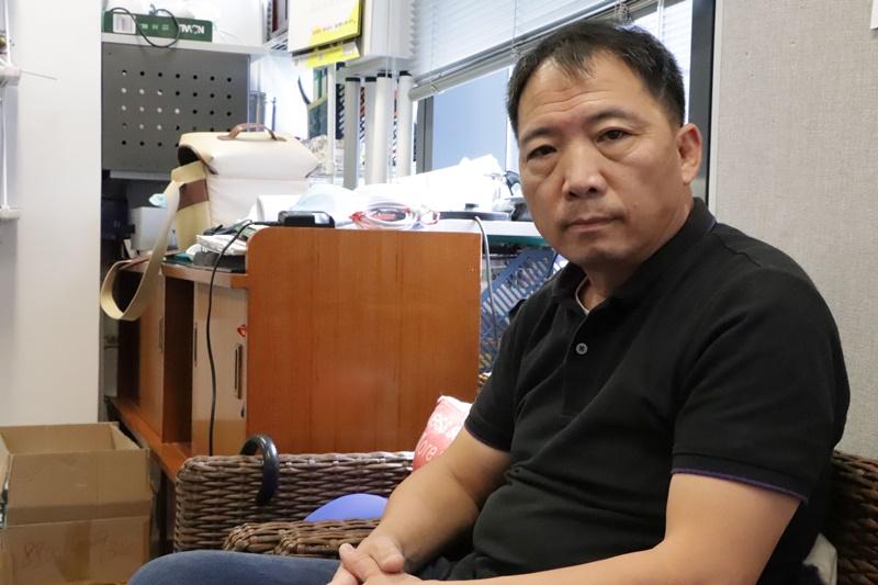 民主黨主席兼立法會議員胡志偉。(中央社張謙)