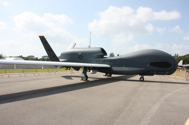 美軍全球之鷹無人偵察機,具全天候全球偵查能力,讓其他國家難望項背。