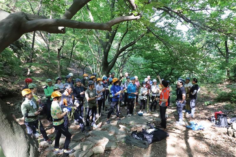 林道登山指導師養成教育。