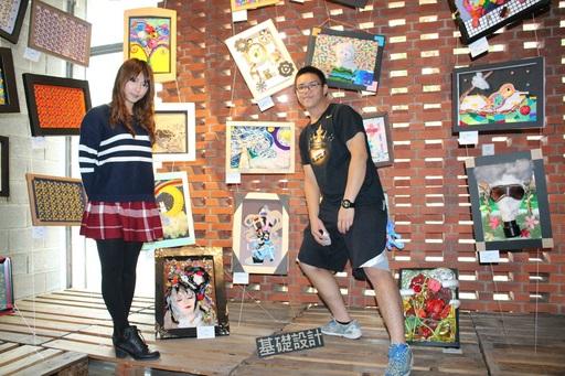 材質拼貼展區,陳設創設系學生創意作品
