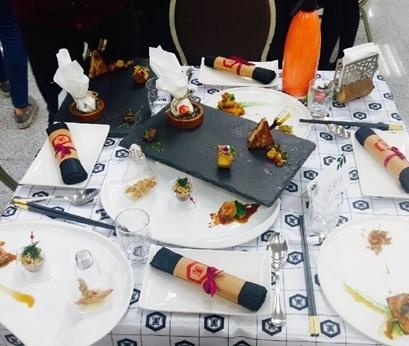 稻江學院餐飲系學生創作的菜餚有「環保、安心、美味」感覺
