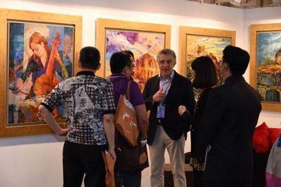 「2016台北新藝術博覽會」以「人生風華」為主題,展演藝術創作的人生脈動。