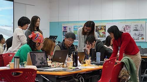 擁有多年動畫製作經驗的陳世昌老師悉心指導小組動畫作品