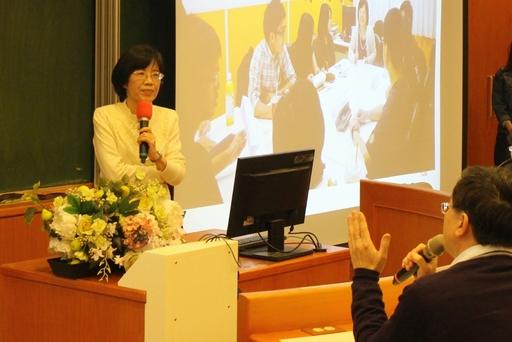 中醫大吳禮字教授分享中國醫藥大學實施PBL(問題導向學習)的經驗,與亞大老師互動熱絡。