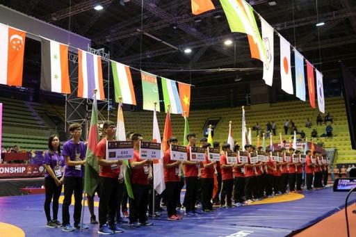 亞洲青年角力錦標賽開幕盛況。