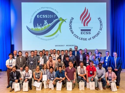 歐洲運動科學年會表揚年輕研究者獎得主。