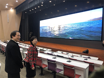 參觀淡江大學守謙國際會議中心會議廳。