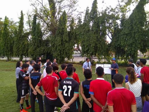 真理大學體育教師與馬來西亞理科大學足球隊進行交流