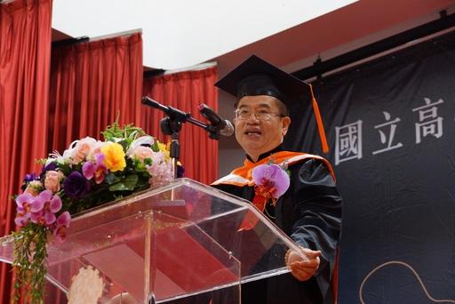 高科大首次畢業典禮長達10小時7場次輪番上陣 校長楊慶煜為畢業學子贈言