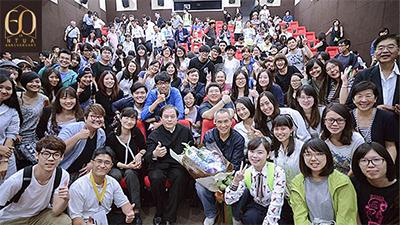 臺藝大傑出校友侯孝賢導演返校播映最新作品《聶隱娘》並進行大師講座。
