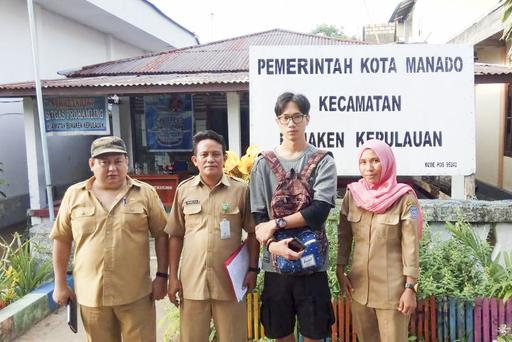 研究團隊的學生前往印尼美娜多先期田野調查。(照片/逢甲大學綠色產品研究中心提供)