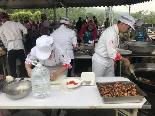 2018農食料理創意競賽育達科技大學餐旅經營系「育見達人」團隊同學比賽情形