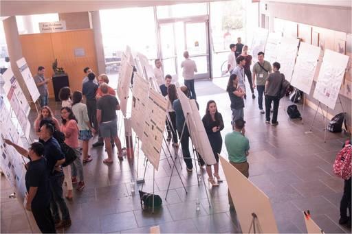 於UCI生化所舉辦研究壁報研討會,與UCI教授學生交流討論。