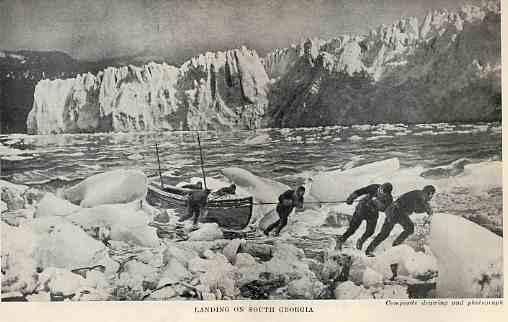 沙克爾頓爵士派出的求援特別隊,經過16天求救航行登岸。