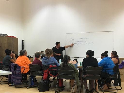 移地學習團員前往第一民族傳統領域的部落參加族語課程
