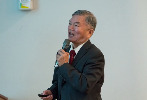 經濟部長沈榮津進行「數位經濟之產業創新成長契機」專題演講。