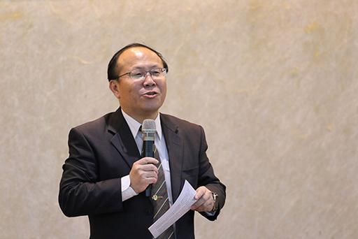 南臺科技大學副校長賴明材致詞。