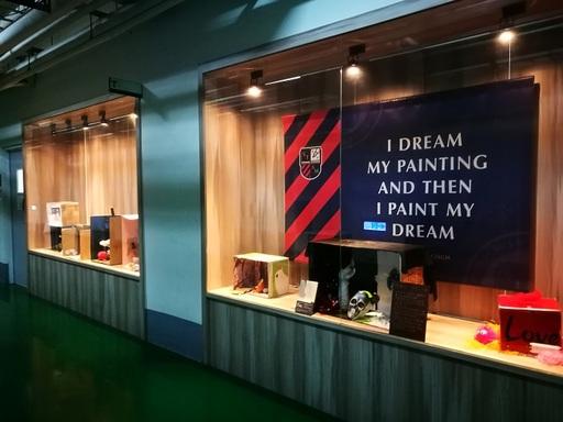 圖說二:藝管系藝文走廊