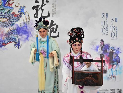 龍袍記者會精彩片段演出。(右)蕭揚玲飾寇珠、劉建華飾陳琳 2