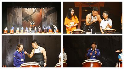演出特別安排現場學生上臺擊鼓體驗,啟發學童們藝術心靈。