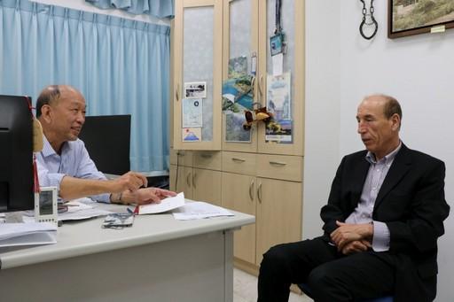 蔡嘉哲教授與法籍曹利教授經常學術交流。