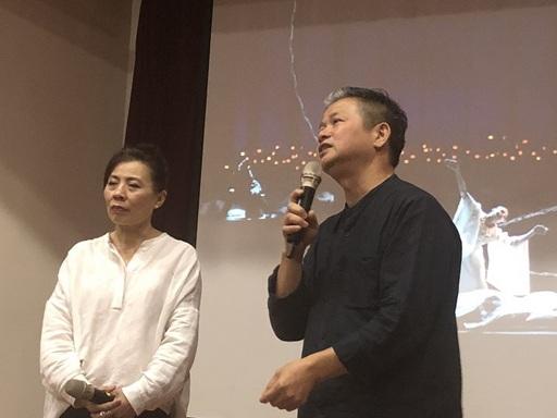 圖說一:林美虹編舞家/左、游源鏗老師/右