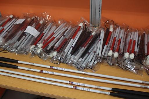 白手杖對視障者來說是異常重要的輔具