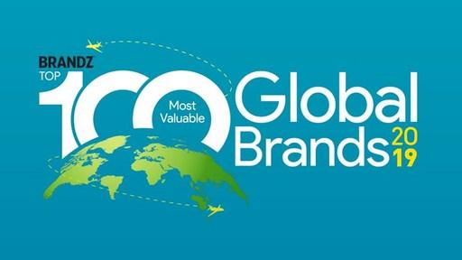 2019年BrandZ全球最具價值品牌100強排行榜