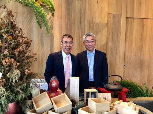 圖說:momo富邦媒體科技董事長 林啟峰、總經理 谷元宏