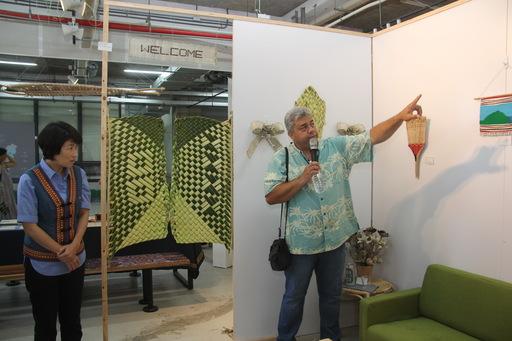 南島10國工藝師編織「家」的想像  12日展現3週編織交流成果 饒縣長期營造到處有南島