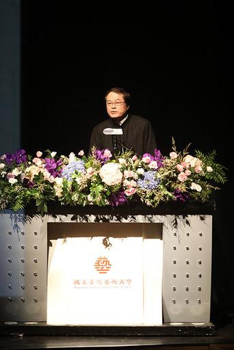 陳志誠校長致詞。