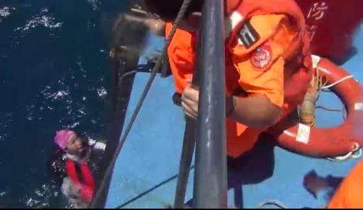 尋獲失聯潛水客救援相片