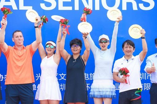宏國德霖科大邱豐傑老師參加2109ITF深圳國際元老網球巡迴賽獲混雙及男雙雙料冠軍。