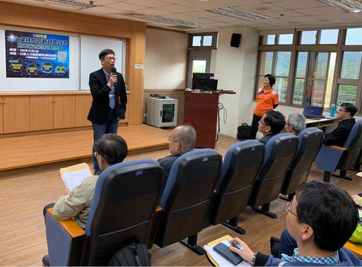 農委會水土保持局王晉倫副局長為創新研究計畫成果發表會開幕致詞