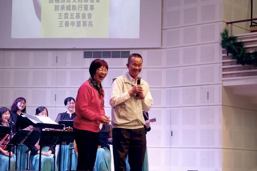 圖說:大安區李條凰副區長(右)、益人學苑校長連麗玉牧師(左)