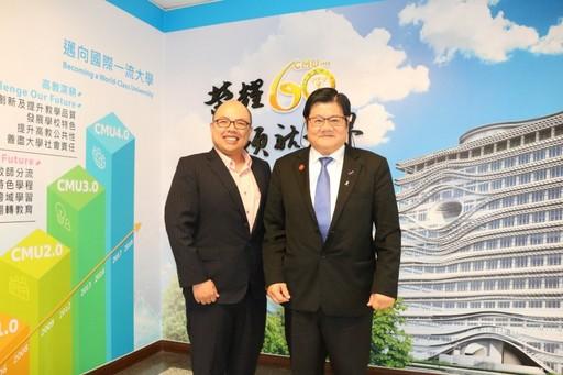 洪明奇校長延攬海外菁英科學家劉彥良返台貢獻所學。