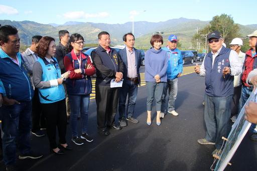 饒縣長視察東49-1通車整備 宣佈啟動2.2億元東49-1延伸改善計畫